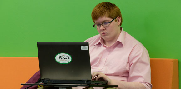 Blended learning student at Nexus Academy