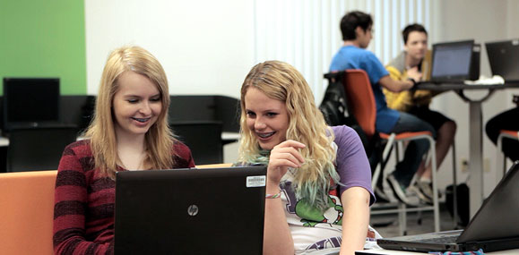 Two students collaborating